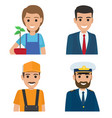 professions people cartoon characters icons set vector image