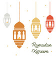 ramadan concept ramadan kareen lanterns holiday vector image