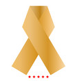 ribbon icon color fill style vector image vector image