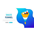 sales funnel statistics banner concept vector image vector image