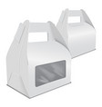set of realistic paper cake packaging box mock up vector image vector image
