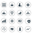 set of simple seminar icons