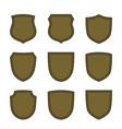 shield flat icons emblem set vector image