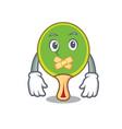 silent ping pong racket mascot cartoon vector image vector image