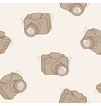 Sketched digital camera seamless pattern vector image vector image