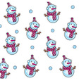 snowman pattern vector image vector image