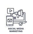 social media marketing line icon concept social vector image vector image
