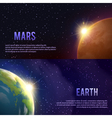 Solar System Banners Set vector image vector image