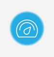 speedometer icon sign symbol vector image vector image