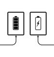 tablet battery charging icon vector image vector image