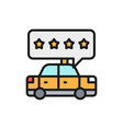 taxi service rating service quality flat color vector image vector image
