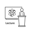 thin line scientific lecture vector image vector image