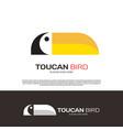 toucan macaw bird logo design vector image
