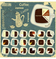 types of coffee drinks vector image vector image