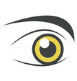 yellow bright eye perfect brows isolated on white vector image