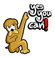 Yes you can dog message vector image vector image