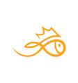 golfish symbol icon on white vector image