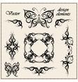 calligraphic design elements vector image