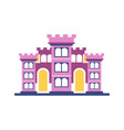 pink majestic palace building vector image