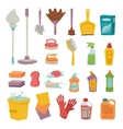 Cleanser bottle chemical housework product and vector image