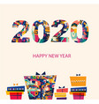 2020 new year vector image vector image