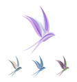 abstract colored stylized swallow template for vector image vector image