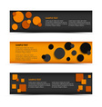 Abstract horizontal banners with rounds and vector image
