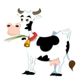 Adorable cow vector image vector image