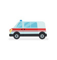 ambulance car with flasher on roof hospital vector image