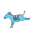 american donkey kicking color drawing vector image vector image