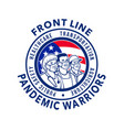 american front line pandemic warriors circle icon vector image vector image