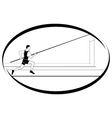 Athletics Pole vaulting 1 vector image vector image