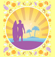 background card summer with surfer vector image