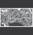baku azerbaijan city map in black and white color