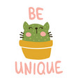 be unique cat vector image vector image