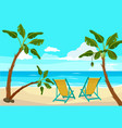 beach palm tree summer background seaside vector image
