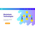 blockchain technologies lp template vector image