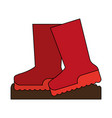 boots shoes icon image vector image
