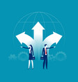 business social conflict people pointing vector image