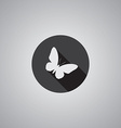 butterfly symbol flat vector image