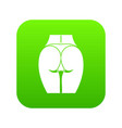 buttocks of girl icon digital green vector image