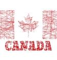 Canada flag design concept vector image vector image