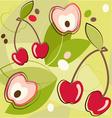 cherries pattern vector image