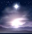 christmas star bethlehem nativity vector image vector image