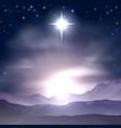 christmas star of bethlehem nativity vector image vector image