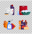 cleaning service set house cleaning tools on vector image vector image