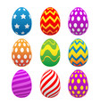 colorful painted easter eggs vector image vector image