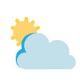 colorful sun and cloud natural summer weather vector image vector image