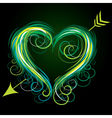 colour heart vector image