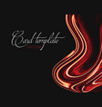 contrast red orange liquid orange black background vector image